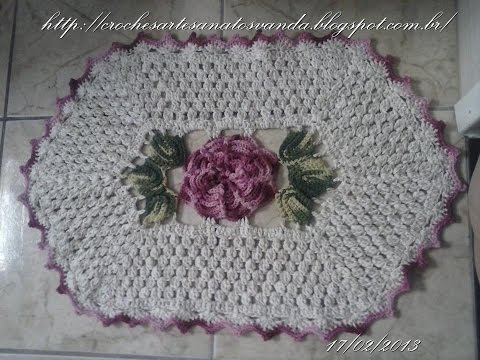 Tapete do lavatório - Tapetes em crochês