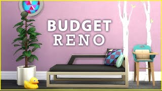 RUBY'S $10,000 BUDGET RENOVATION!  [ The Sims 4 Room Build ]