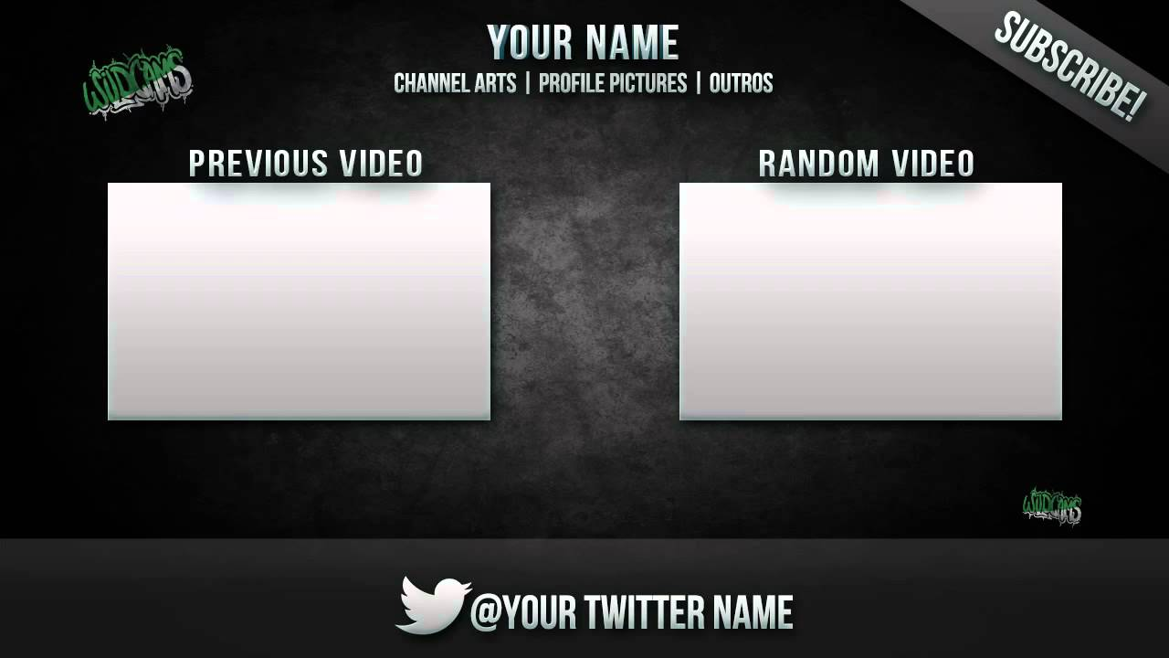 Youtube Outro Template Girly