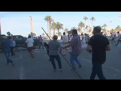 Protest against Khalifa sparks clashes in Tripoli