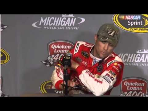 Kevin Harvick 2nd Place Quicken Loans 400 Interview NASCAR Video
