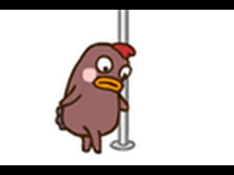 The pole dancing chicken. - YouTube