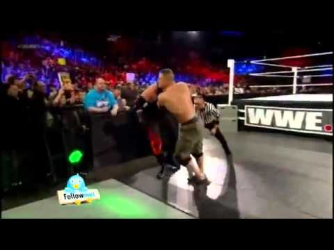 John Cena Vs Kane Ambulance Match - Elimination Chamber 2012 Highlights