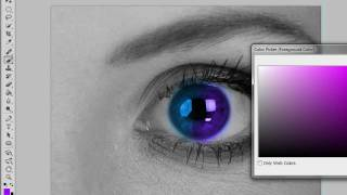 Change Eye Colour In Black&White Photo (Photoshop CS5
