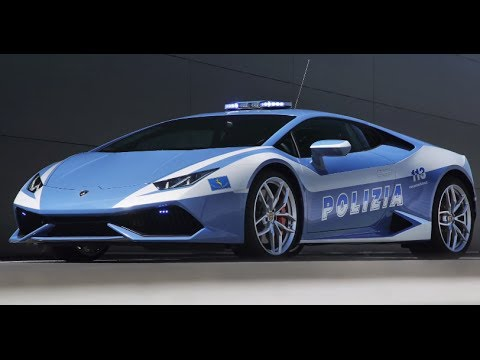 2015 Lamborghini Huracán Polizia Video Engine Start Lamborghini Police Car CARJAM TV 2014