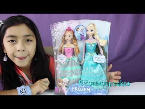 New Disney FROZEN Dolls Elsa and Ana Royal Sisters & Shopkins Shopping