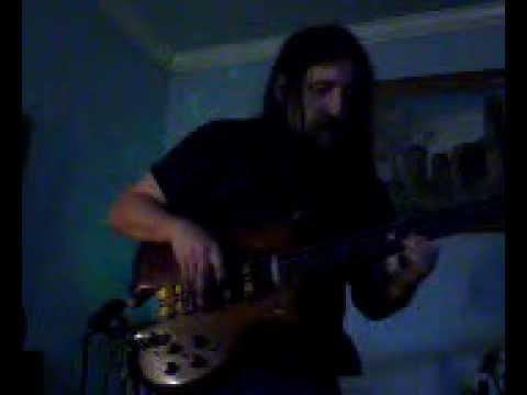 fretless alembic series I bass with a bass loop looping