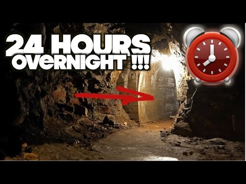 SPENDING THE NIGHT IN GOLD MINE CAVE - 24 HOUR OVERNIGHT CHALLENGE