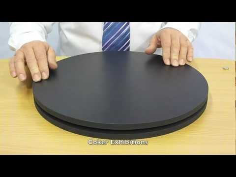 Manual Rotating Platform Display Turntable Youtube