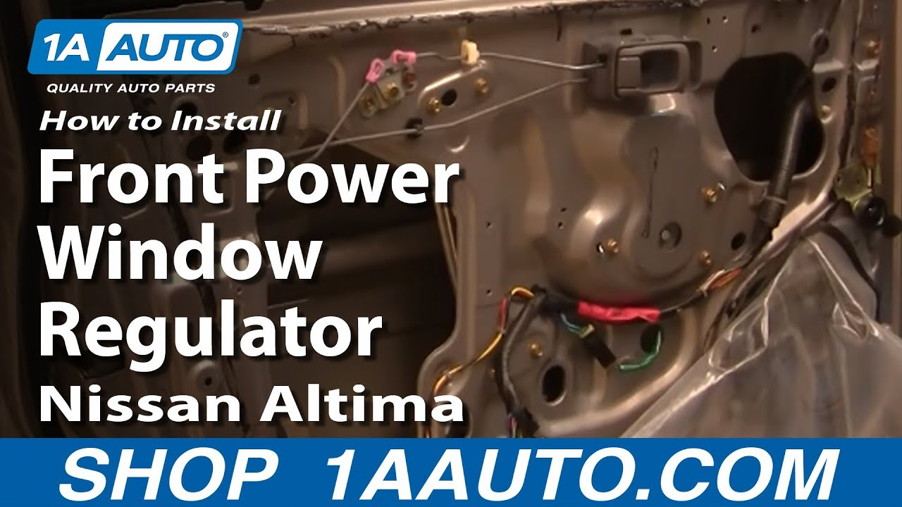 How to install replace front power window regulator nissan for 2001 nissan altima window regulator