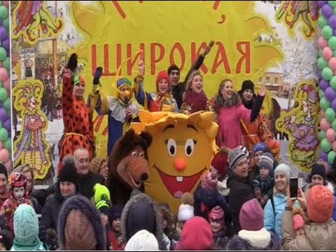 Видеосюжет, посвящённый празднованию Масленицы-2019 в Мурино...