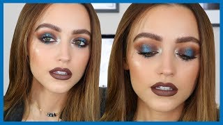 COOL TONED GRUNGE | CHATTY GRWM - Pop of Blue
