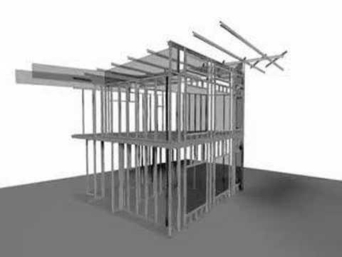 Animacja projektowania budynku