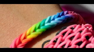 NEW! EASY! How To Make A Rainbow Colored FISHTAIL Rubber