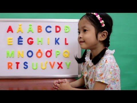 Vui học cùng Anh Anh - Tập Đọc Bảng Chữ Cái Tiếng Việt ABC - Chữ Hoa