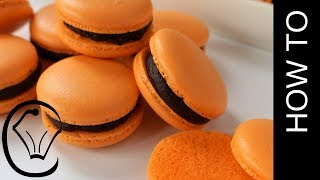 No Resting! Choc Orange French Macarons - Halloween Macarons!