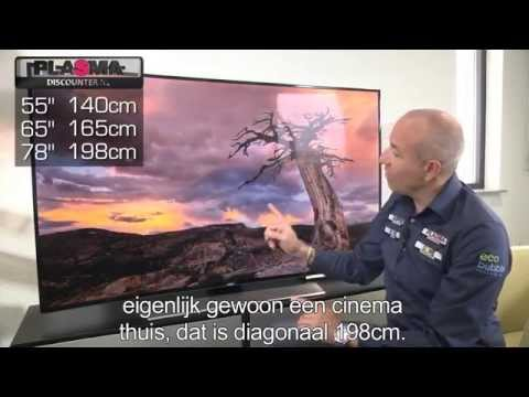 Samsung HU8500 curved Ultra HD review en unboxing (UE55HU8500, UE65HU8500) productvideo, uitleg