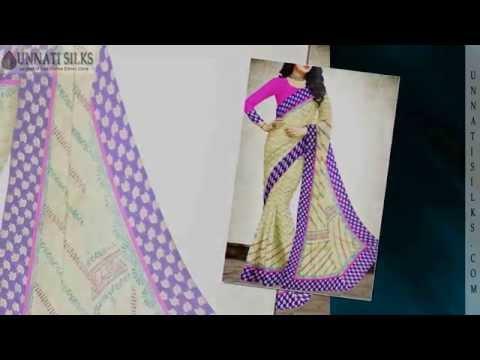 Unnatisilks Chanderi Sico Sarees Online Shopping