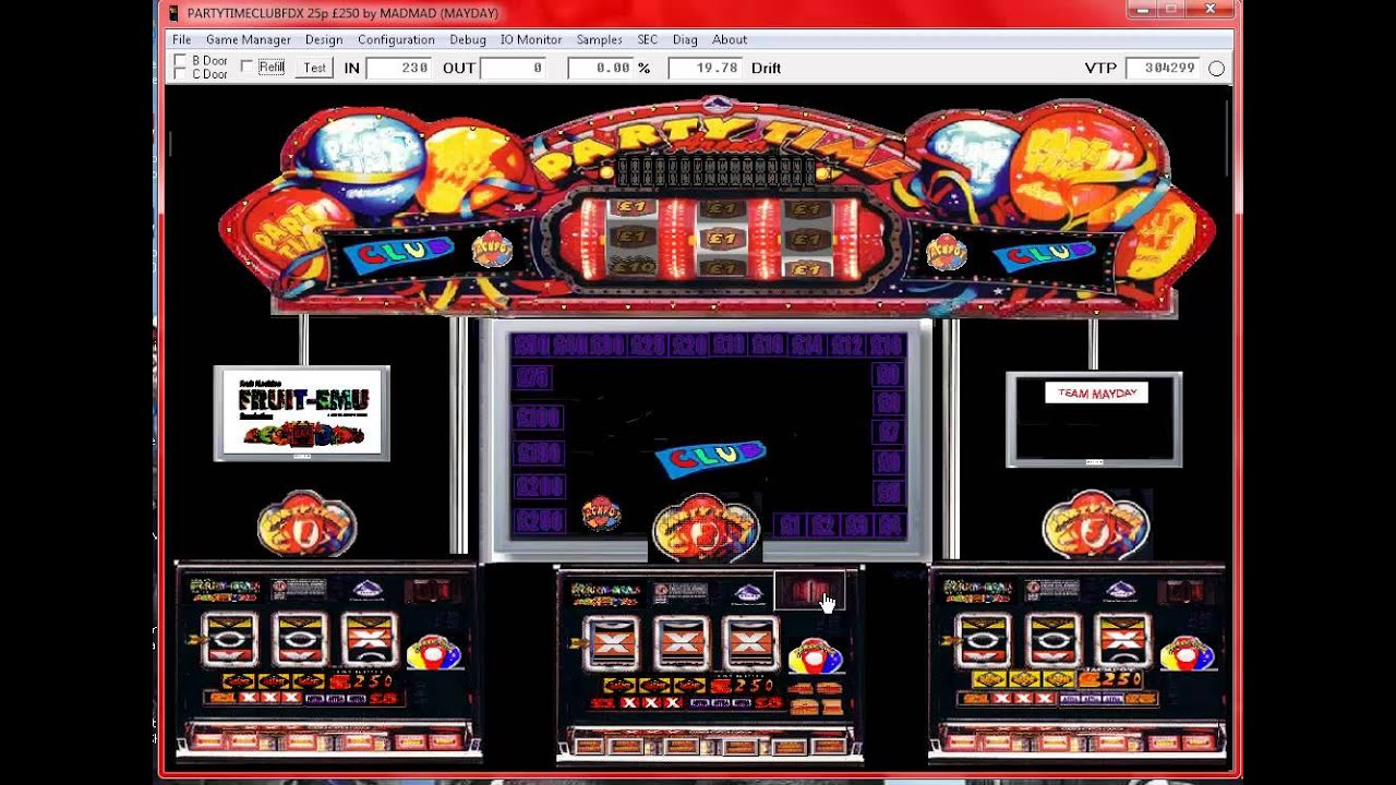 astra party time fruit machine for sale
