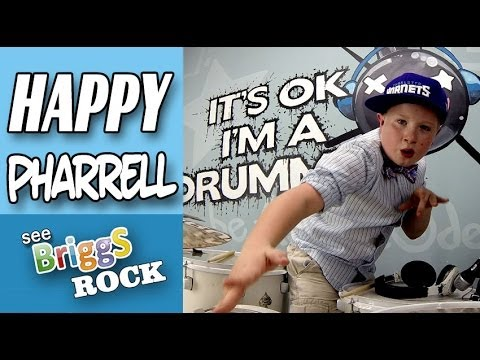 Happy Pharrell Williams Drum Cover See Briggs Rock Remix