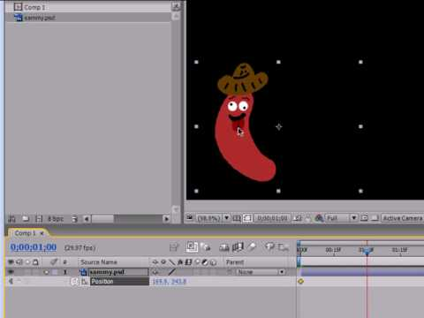 tutorial: After Effects Tutorial - 4 - Basic Animation