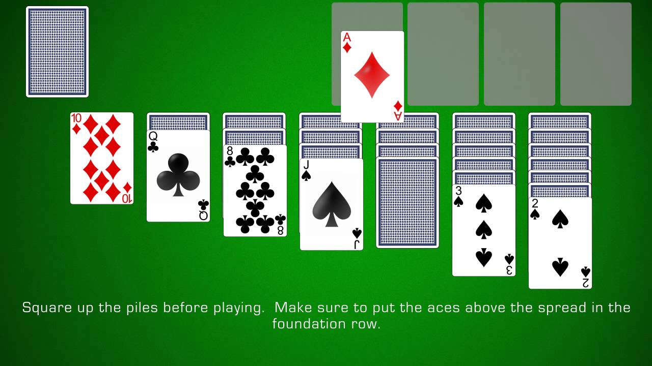 free solitaire card game green felt