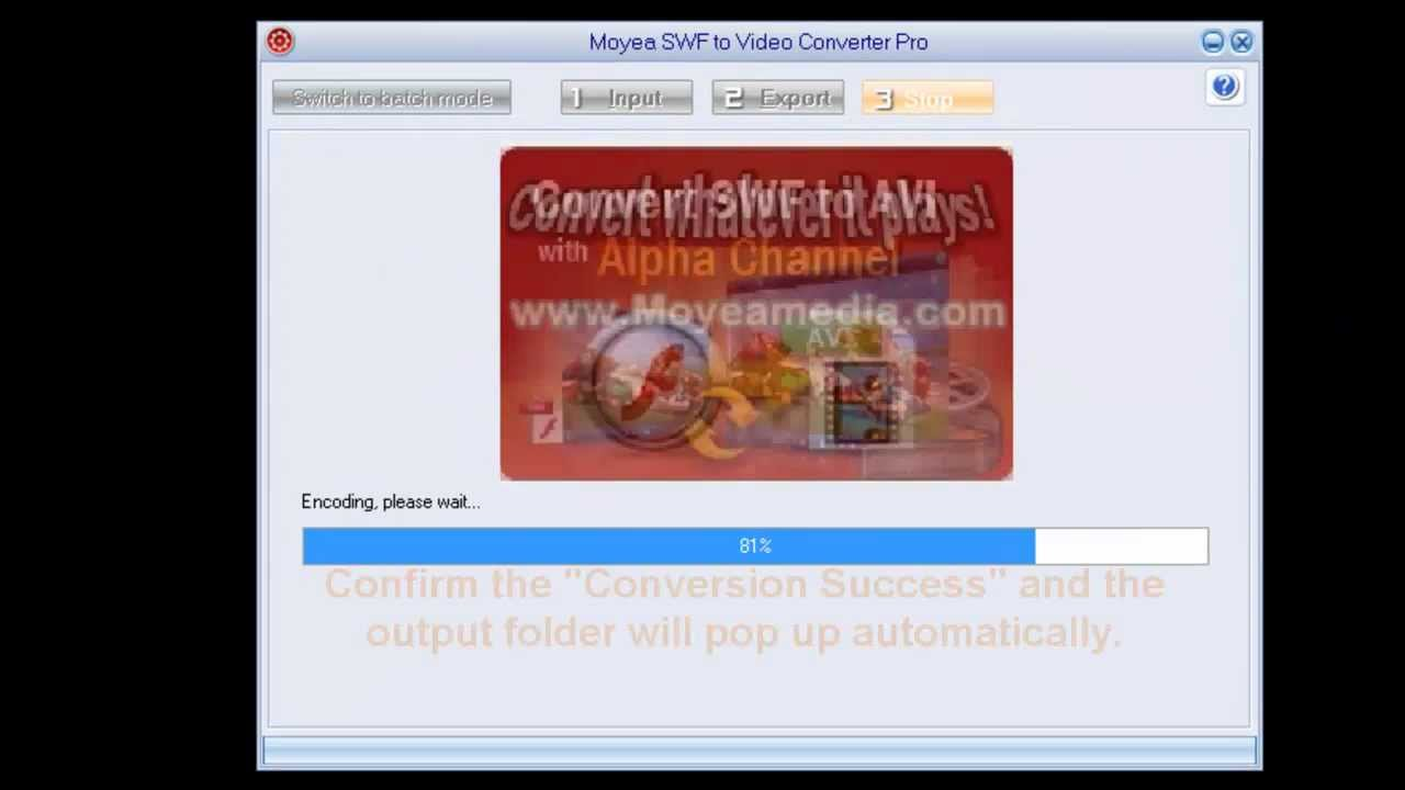 SWF to WMV - Convert Flash to WMV Video with Moyea SWF to WMV Converter.