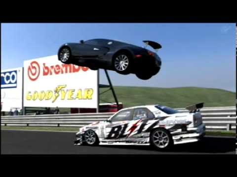 gran turismo 5 flying overtake bugatti veyron youtube. Black Bedroom Furniture Sets. Home Design Ideas