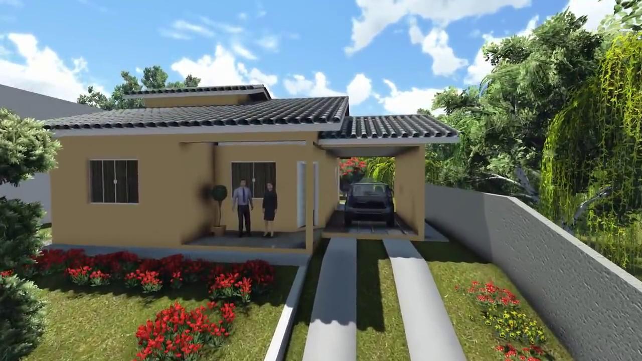 Projetos de casas modelo de uma casa pequena com 3 quartos for Modelos de casas procrear clasica