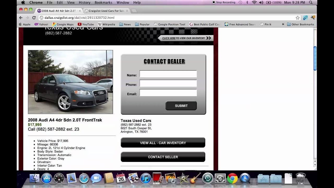 Craigslist Dallas TX Used Cars line Search Help for