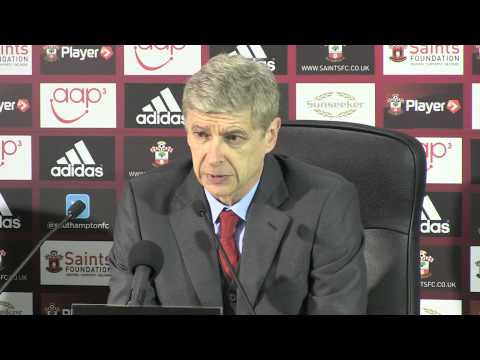 Arsene Wenger after Southampton v Arsenal - 28 1 2014