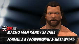 WWE 2K14: Macho Man Randy Savage CAW Formula By Powerspyin
