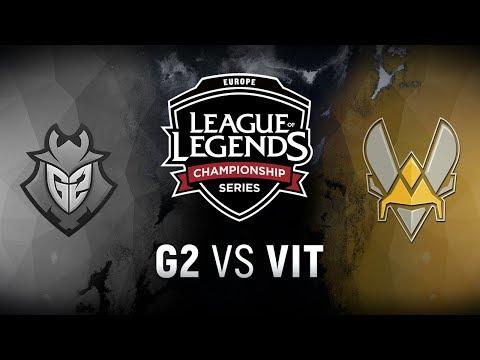 G2 vs. VIT - Playoff Tiebreaker | EU LCS Summer Split | G2 Esports vs. Team Vitality (2018)