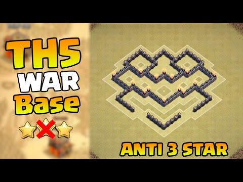Clash of Clans BEST Town Hall 5 War Base CoC TH5 War Base Layout Defense Strategy