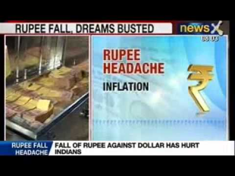 NewsX: Fall of Rupee against Dollar has hurt Indians