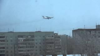 Un avion mare a speriat orașul Orenburg ieri