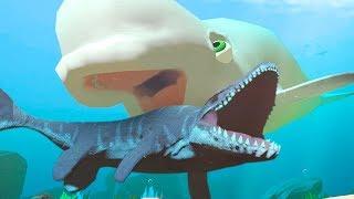 NEW BELUGA vs MOSASAURUS! - Feed and Grow Fish - Part 76   Pungence