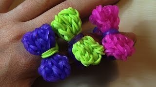 RAINBOW LOOM BOW RING How To Make