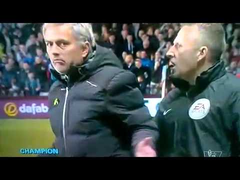 Aston Villa vs Chelsea Ramires and Mourinho RED CARD !!!15/3/2014
