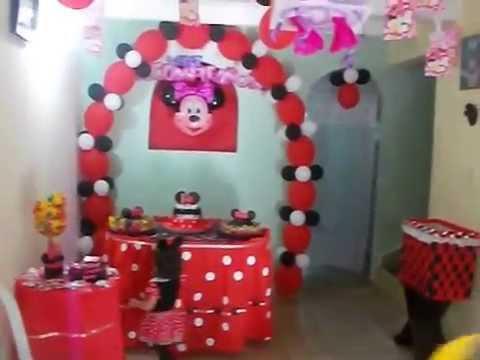 Como decorar una fiesta de minnie mouse youtube - Como decorar una mesa para una fiesta ...