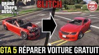 GTA 5 // GLITCH: Réparer Sa Voiture SANS Garage Et