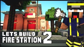 Minecraft Lets Build: SimCity Fire Station - Part 2