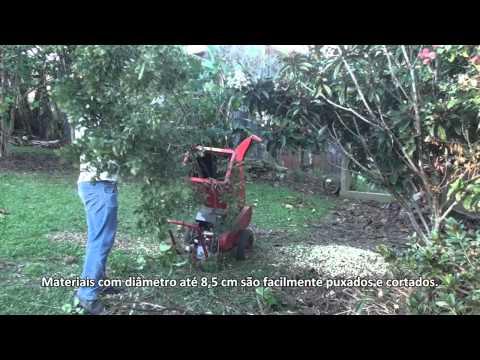 Triturador de Galhos BT 90, ideal para triturar galhadas, arbustos e folhagens