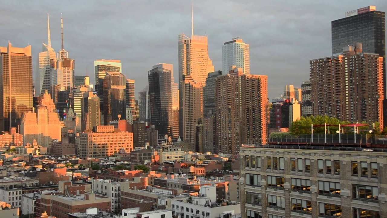 New York Skyline From Ink48 Hotel On 11th Avenue Before