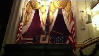 Lincoln's Assassination The Balcony Area And Chair At
