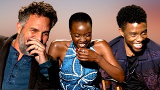 'AVENGERS' Cast (Black Panther) Hysterically Laughing At Mark Ruffalo's Outfit ... (INFINITY WAR)