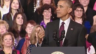 President Obama Speaks On Women And The Economy