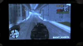 GTA:Liberty City Stories Psp-tank Code And Gameplay