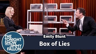 Jimmy Fallon Plays Box of Lies With Emily Blunt