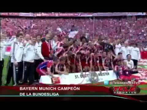 Bundesliga: con gol de Pizarro Bayern ganó al Stuttgar y se coronó campeón